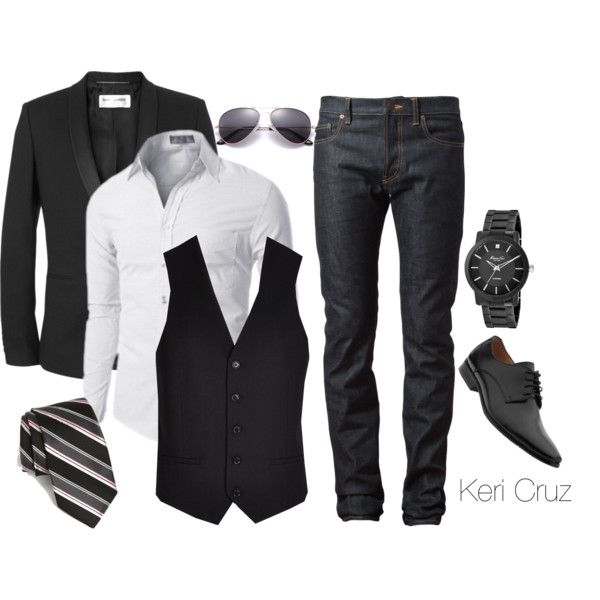 Sharp Dressed Man by keri-cruz on Polyvore featuring Kenneth Cole, Yves Saint Laurent, River Island, Doublju and Michael Kors