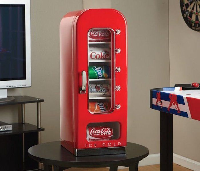 Dispense your favorite beverages with ease. Why you would probably want a Coca-Cola Vending Fridge is because of its compact design which can easily blend inside any small studio or apartment.