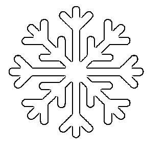 pretty snowflake like a flower...would be a great coloring page for the kids on a snowy winter day! great indoor  quit time activity