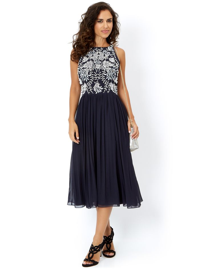 Loretta Midi Dress | Navy | Monsoon £129