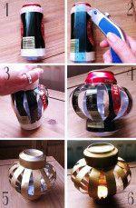 manualidades con latas de refresco 4