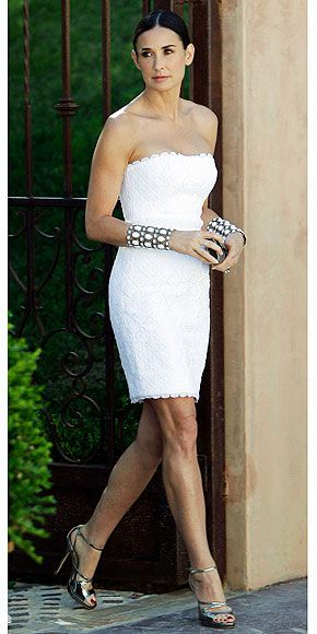Dress - Andrew Gn.....Demi Moore (thank God she put some weight on again!)