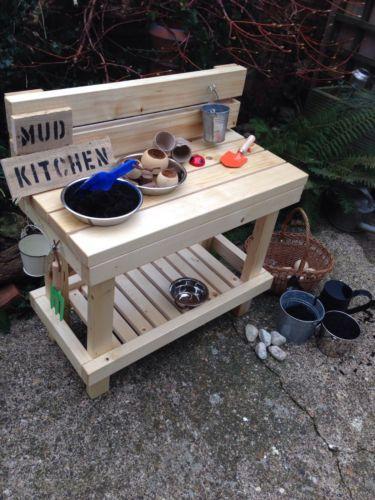 Mud Play Kitchen Outdoor childminder nursery parents eyfs ofsted garden
