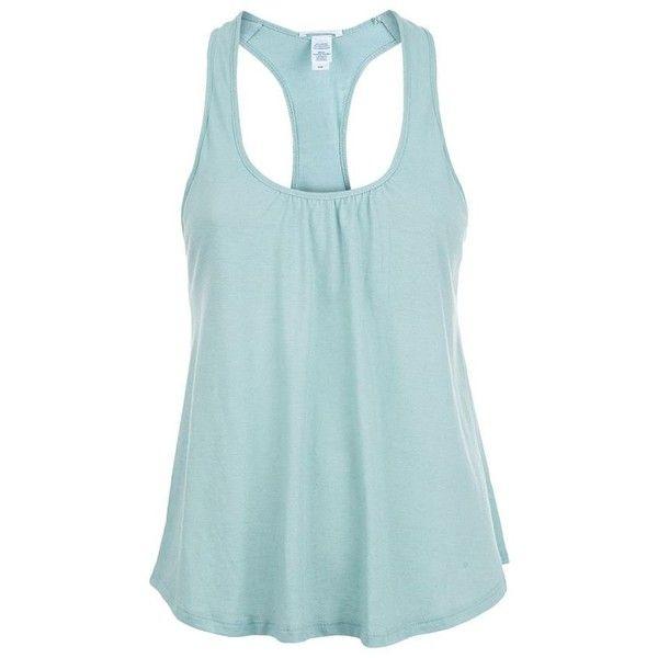 Eberjey Racerback Pyjama Top (£90) ❤ liked on Polyvore featuring intimates, sleepwear, pajamas, cotton jersey, pj tops, eberjey pajamas, eberjey and eberjey sleepwear