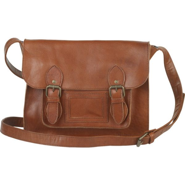 Fat Face Leather School Satchel ($88) ❤ liked on Polyvore featuring bags, handbags, tan, crossbody purses, leather satchel, satchel handbags, leather cross body purse and leather crossbody purse