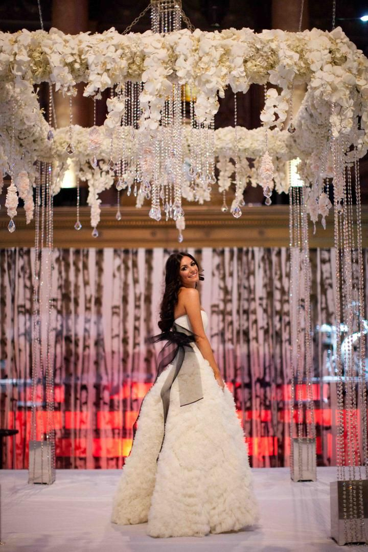 wedding ceremony new york city%0A White Winter Wedding at Capitale in New York City