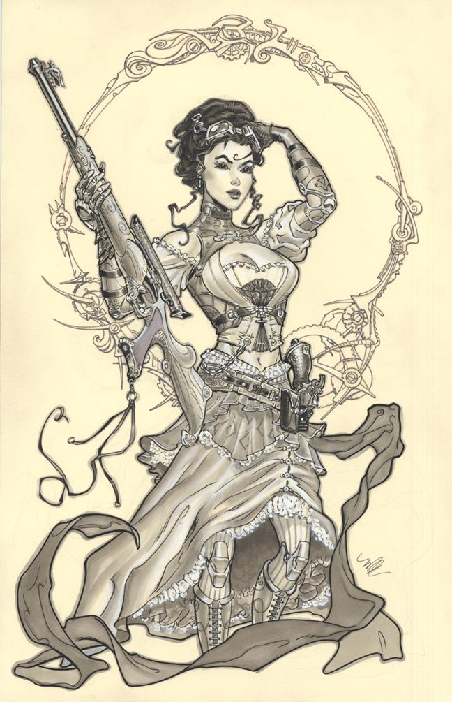 Lady Mechanika by MichaelDooney.deviantart.com on @DeviantArt___ Here's a great collection of comic book art from Teenage Mutant Ninja Turtle cover artist, Michael Dooney.   — pinterest.com