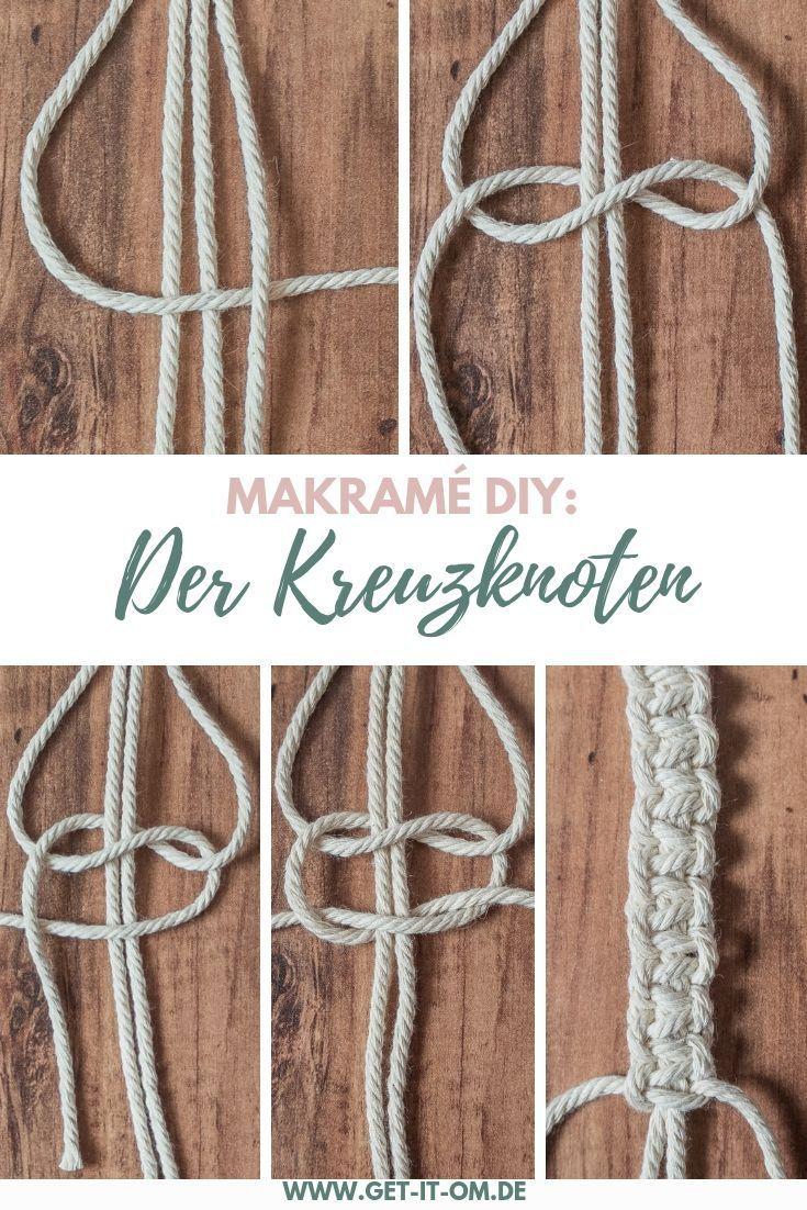 Einfache DIY Makramé-Blumenampel für deine Yogaecke