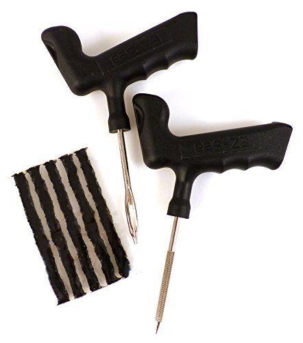 EZ Seal 211298 Outils Pro plus Mèches Autovulcanisantes Tubeless: Composé de 5 mèches autovulcanisantes et 2 outils de pose avec poignée…