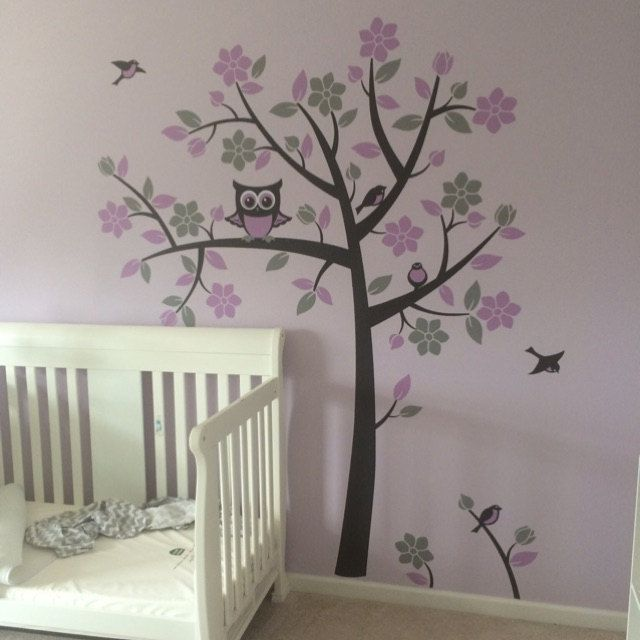 Best Woodland Owl Tree Nursery Images On Pinterest Owl Tree - How to put up a tree wall decal