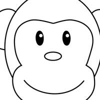 Monkey head coloring pages ~ 17 Best images about Zoo/ Wild Animal Party on Pinterest ...