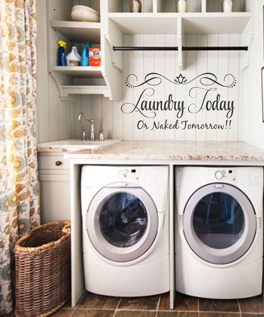 Love this 'Laundry Today' Decal by LolliPOP Walls on #zulily! #zulilyfinds