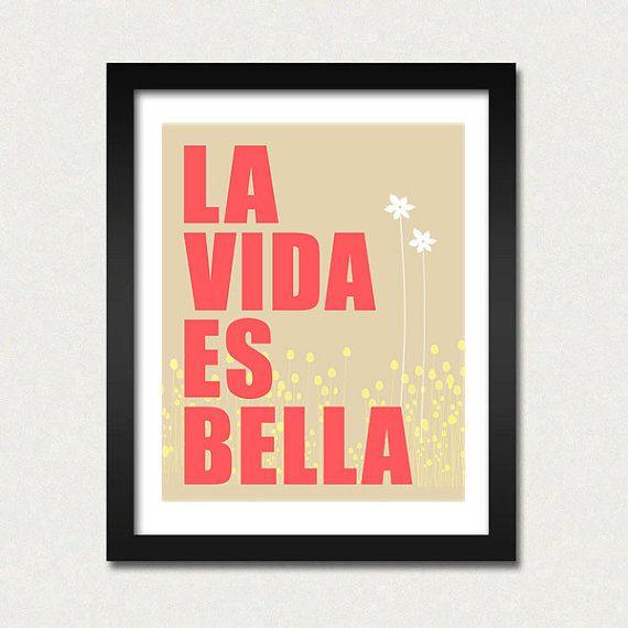 La Vida es Bella  8 x 10 by EinBierBitte on Etsy