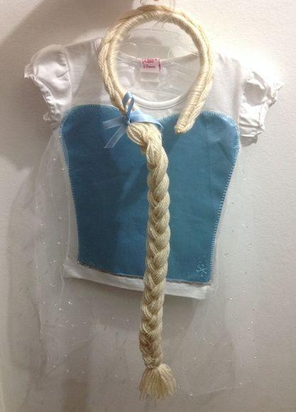 Camiseta e Tiara Frozen