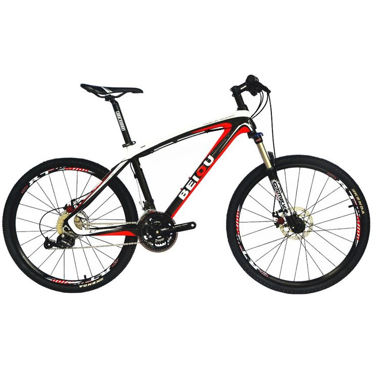 BEIOU Bicycles Hardtail Mountain Bike 26-Inch Shi mano 3x9 Speed S R A M Brake Ultralight Complete Carbon MTB Frame CB014