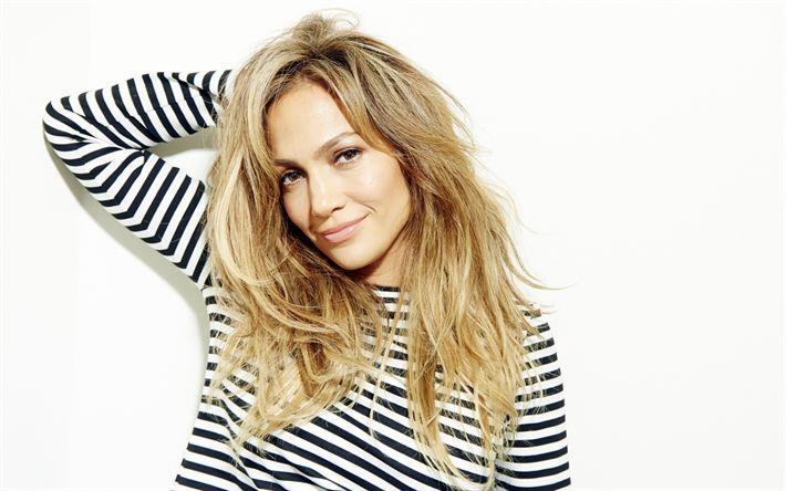 Descargar fondos de pantalla Jennifer López, la cantante Estadounidense, hermosa rubia, la actriz, J Lo, retrato, mujer hermosa