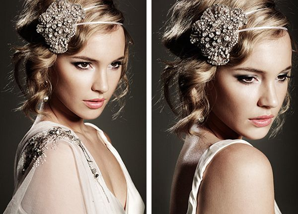 Vintage Wedding Headbands  this captures the bride so closely and delicatley