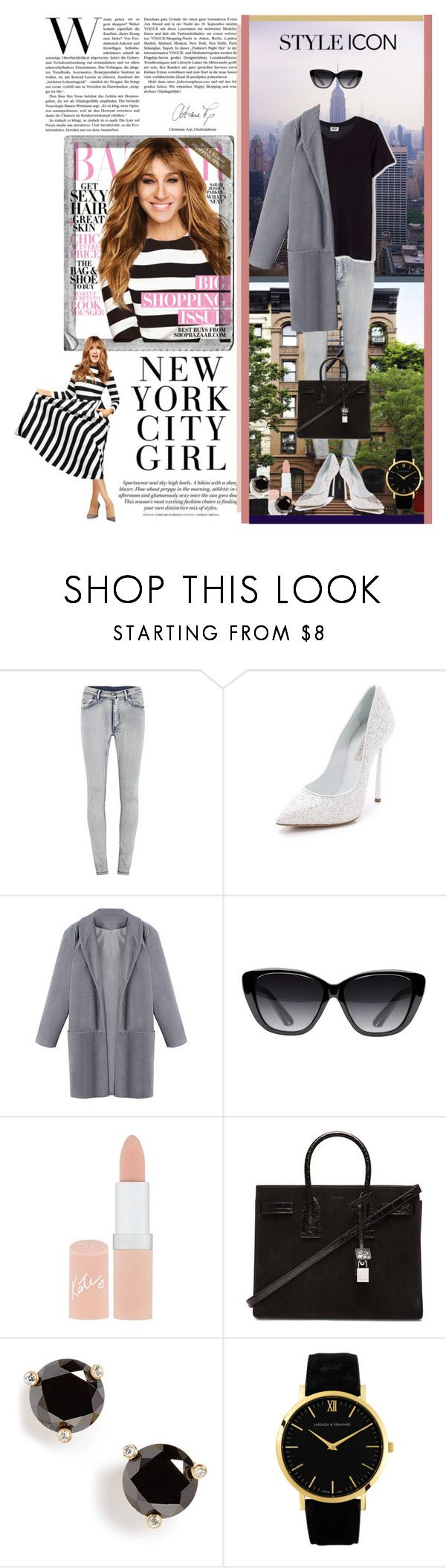 """""""Style Icon: Sarah Jessica Parker"""" by cvg171d ❤ liked on Polyvore featuring Sarah Jessica Parker, Cheap Monday, Casadei, Elizabeth and James, Rimmel, Yves Saint Laurent, Kate Spade, Larsson & Jennings and Polaroid"""
