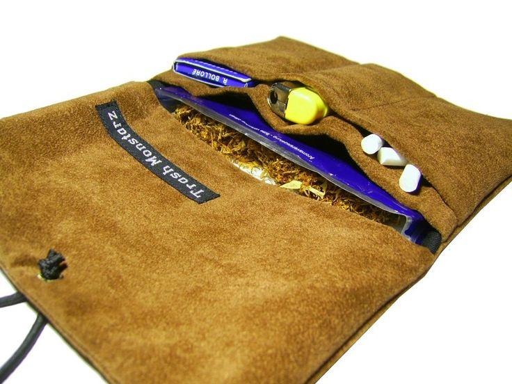 Tobacco Pouch - imitation leather - Tabakbeutel by trash-monstarz - Tobacco Pouches - Cases & Mini Bags - DaWanda