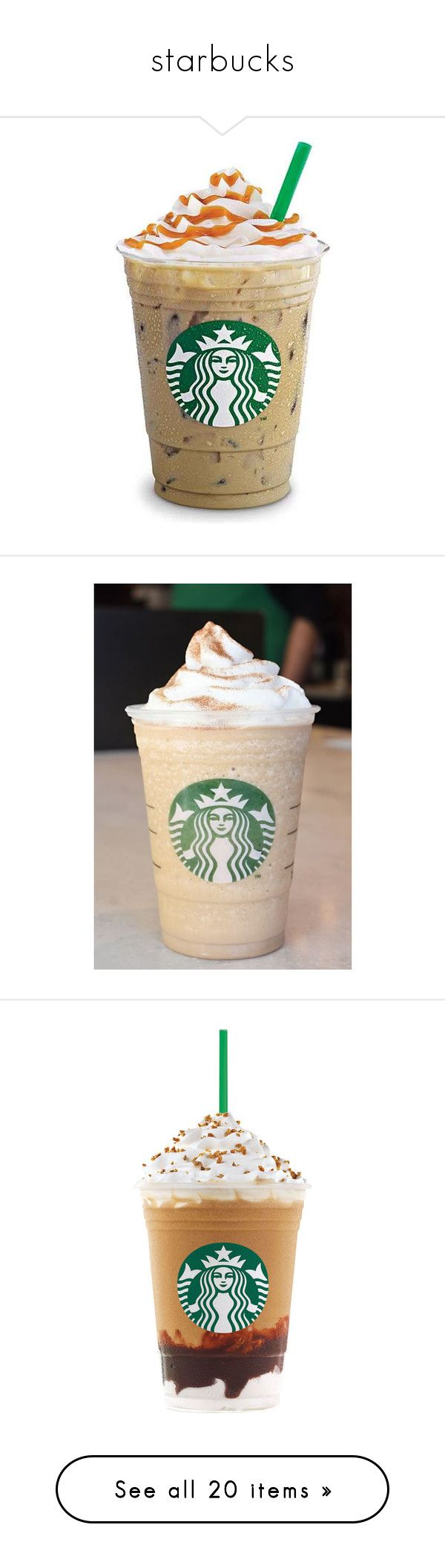 """""""starbucks"""" by dazzlej ❤ liked on Polyvore featuring fillers, starbucks, backgrounds, words, random, text, phrase, quotes, saying and food"""