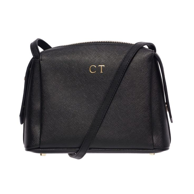 Black Structured Cross Body Bag | The Daily Edited