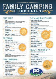 Family Camping Checklist Travel4cornersus Blog 2014