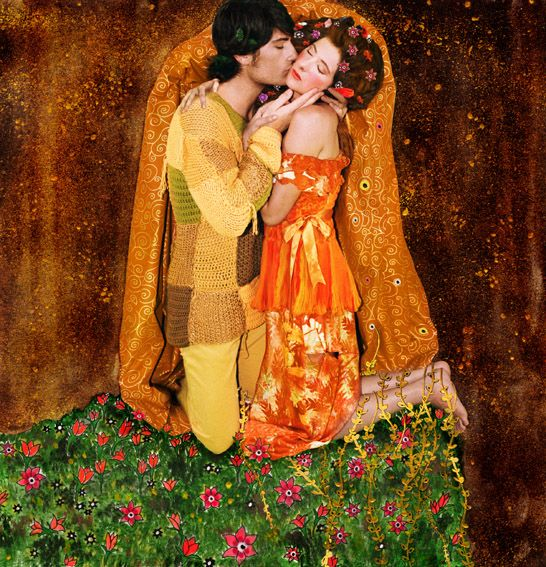 """La Esencia de Klimt"" for Ae Magazine, 2007 SEE: GUSTAV KLIMT, DER KUSS (THE KISS), 1907-08."