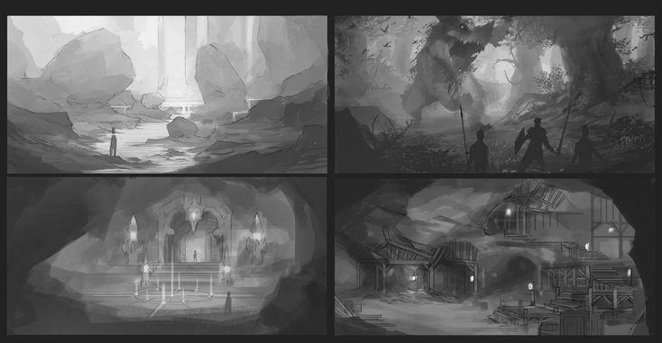 Environment sketches by ChristopherOnciu