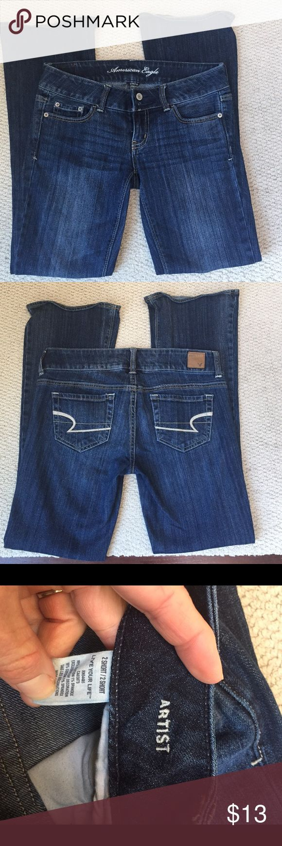 """American Eagle Live your Life Artist jeans AE Live your Life Artist bootcut jeans. Size 2 short.  29"""" inseam. 15"""" waist. Great condition. 99% cotton and 1% spandex. American Eagle Outfitters Jeans Boot Cut"""