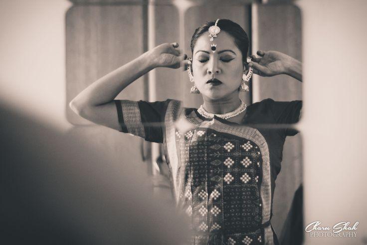 Odissi dancer backstage