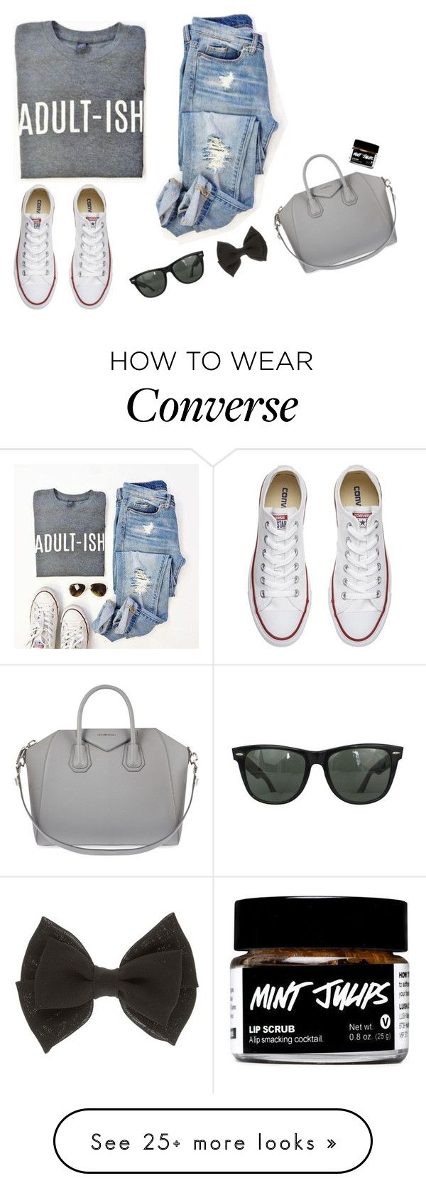 """IF THIS SET GETS 50+ LIKES I'LL DO A FACE REVEAL"" by seals23 on Polyvore featuring Converse, Givenchy and Ray-Ban"