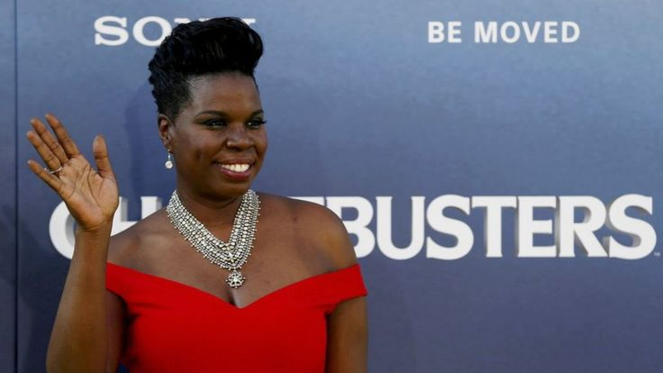US comedian and Ghostbusters actress Leslie Jones takes aim at the hackers who published nude photos of her and private details online.