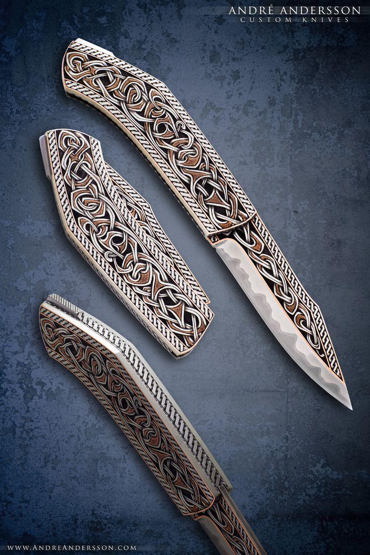 Broken back Seax folder | André Andersson Custom Knives