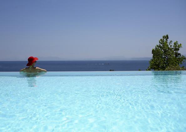Atrium Hotel, Agia Paraskevi, Skiathos Hotel with sea view. http://www.holidaysaccommodations.com/property/1101/overview/atrium-hotel #hotel #Skiathos #Greece
