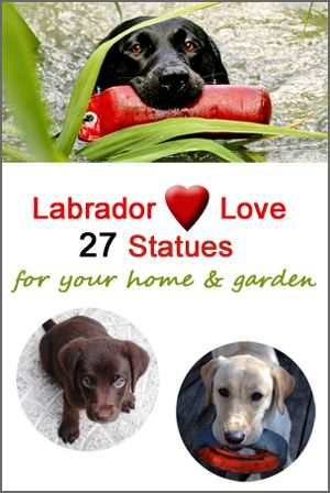 Labrador retrievers are loyal, loving and very playful! These adorable labrador statues capture the wonderful qualities of these beautiful dogs. Perfect company for you while you are working at home or relaxing in your back garden.