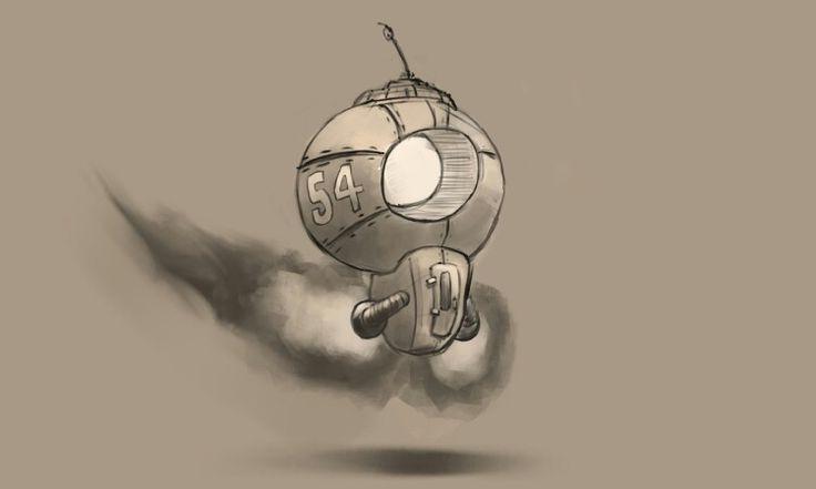 Flying bot doodle