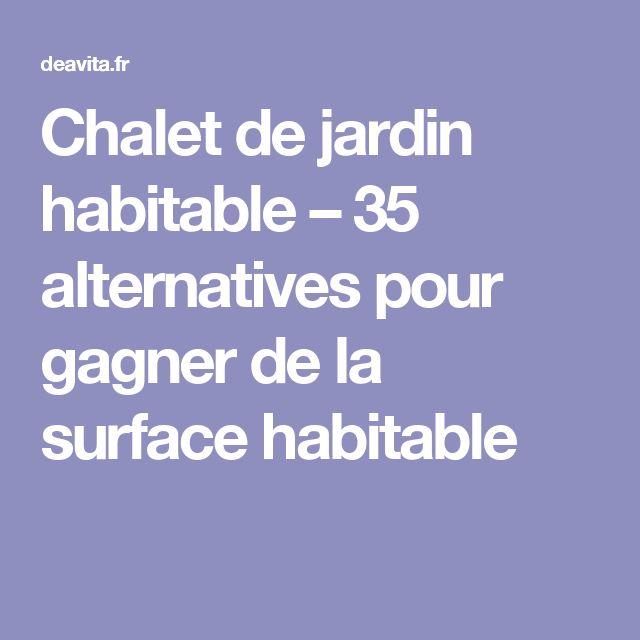 Chalet de jardin habitable – 35 alternatives pour gagner de la surface habitable