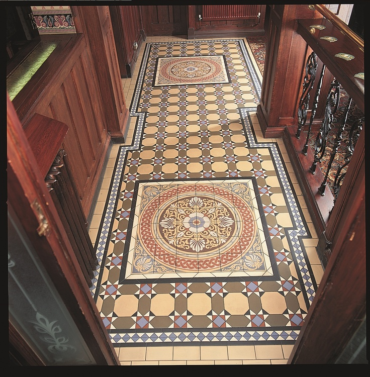 Victorian floor tiles here the inverlochy pattern for Edwardian tiles for porch