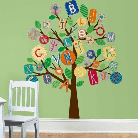 Superbe Primary ABC Tree Giant Wall Decals