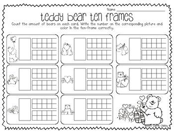 Valentine's Day: Teddy Bear Ten Frames :)