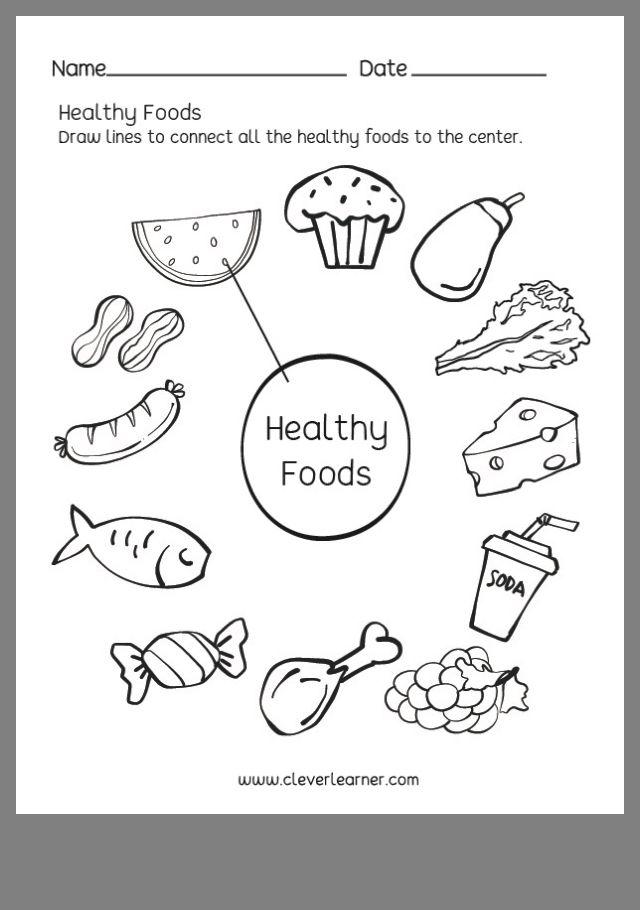 Pin By Mar On Healthy Habits Preschool Science Science Worksheets Healthy Food Activities Unhealthy food worksheet for