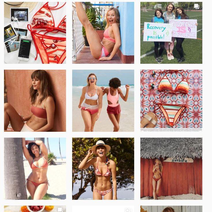 """Не SPA, но тема женского тела, т.к. аккаунт фирмы купальников и белья AERIE. есть девушки плюс сайз, яркий и жизнерадостный, сочетание фотосессий и фотографий обычных девушек """"natural beauty"""" + морты с купальниками и бельём, иногда текстовые картинки и видосики. Транслируют бодипозитив"""