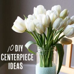 10 beautiful and easy DIY centerpieces! (via eighteen25)