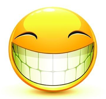 Image result for smile emoji showing teeth