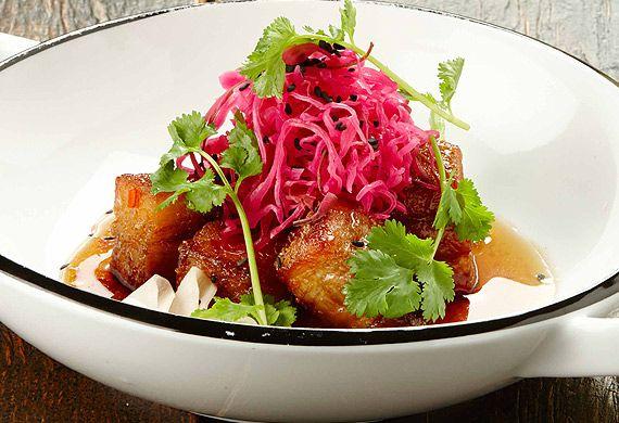 Gary Mehigan's crispy pork with chilli caramel sauce and pickled daikon recipe - 9Kitchen