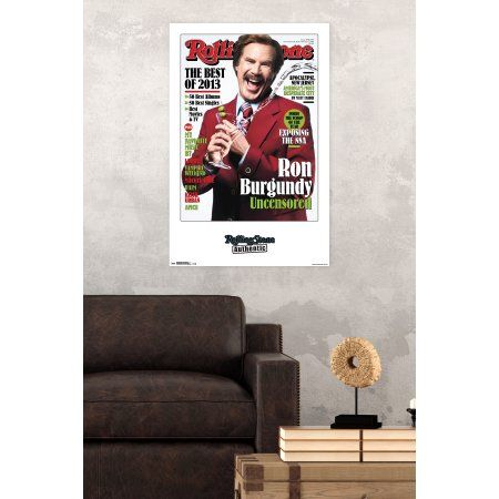 Trends International Rolling Stone Ron Burgundy Wall Poster 22.375 inch x 34 inch