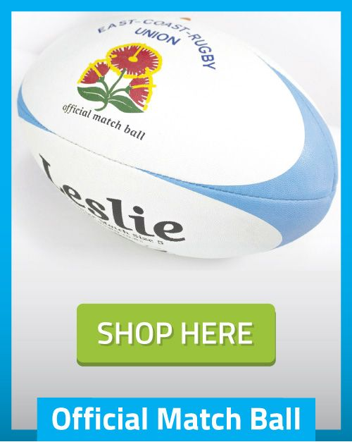 Official LeslieRugby Rugby Ball of the East Coast Rugby Union New Zealand- shop here http://tinyurl.com/jucj5qs
