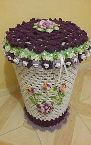 linda capa para cesto novidade sendo compartilhada - Universo dos croches