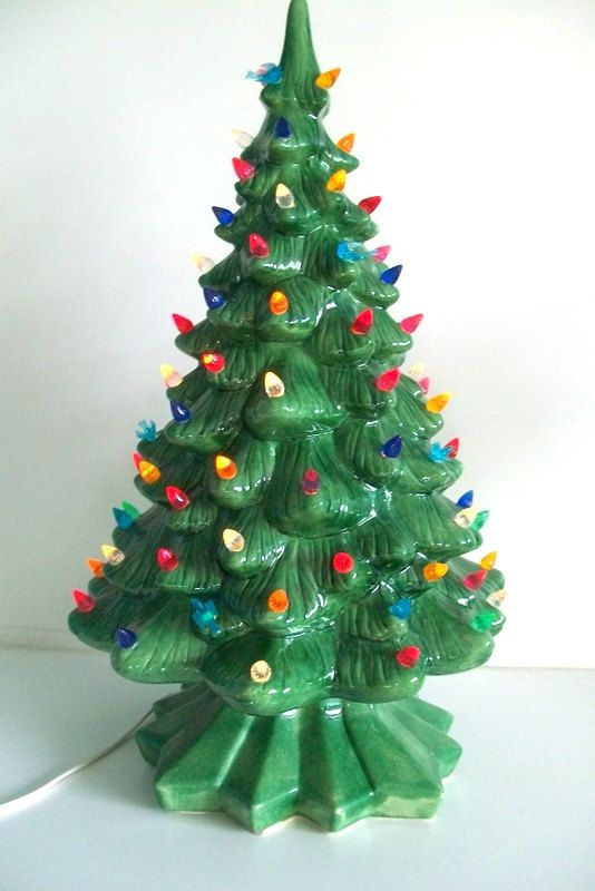 Tabletop Vintage Ceramic Christmas Tree by 4EnvisioningVintage, $92.00....this makes me think of my Meme.  She always had a tree like this up in her house every Christmas.