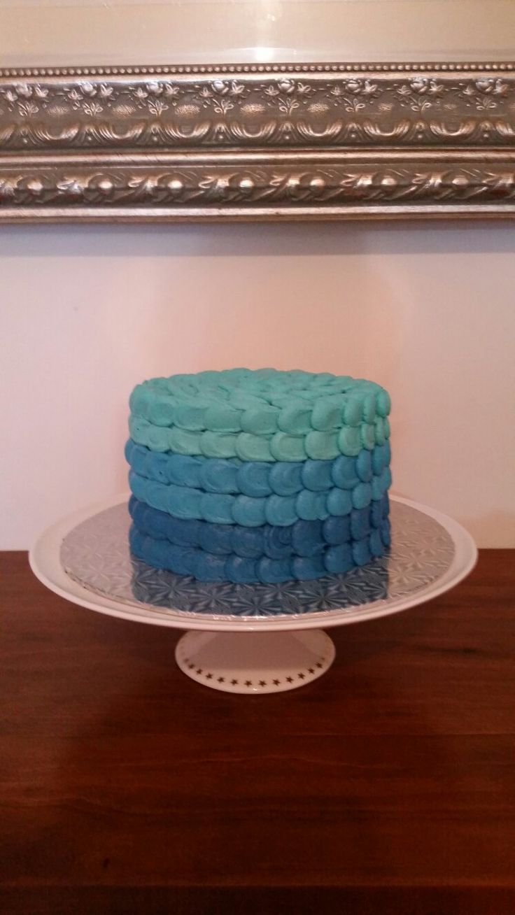Boys Ombre Smash Cake
